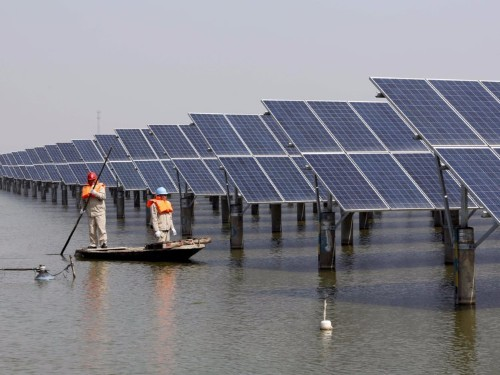 China completed the world's biggest floating solar energy farm