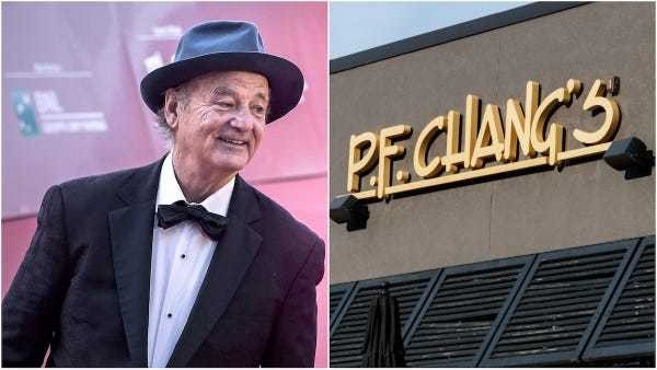 P.F. Chang's replied after Bill Murray said he applied for a job there - Business Insider