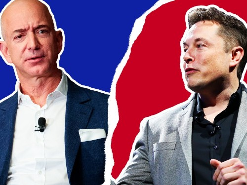 Why Elon Musk and Jeff Bezos are in an epic feud that's lasted years