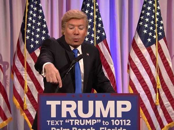 Jimmy Fallon breaks out a scathing Donald Trump Super Tuesday impression: 'I love the KKK' - Business Insider