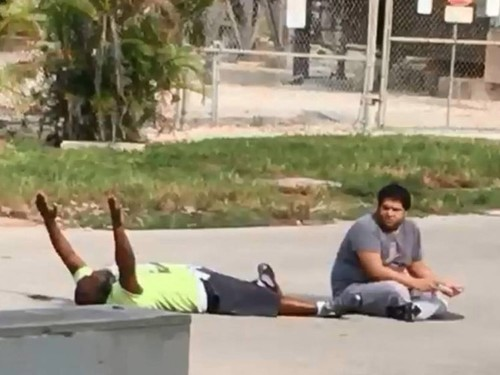 An unarmed black therapist was shot by Florida police while helping a person with autism