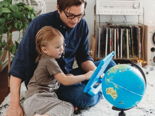 My 5-year-old loves this interactive, augmented reality globe — he's still playing with it 6 months later