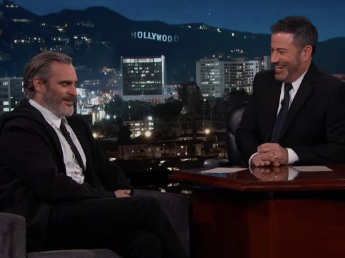 VIDEO: Jimmy Kimmel shares 'Joker' outtake of Joaquin Phoenix swearing at crew - Business Insider