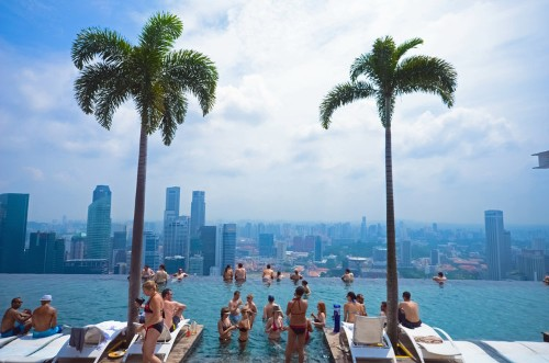 Tour The Sky-High Infinity Pool Perched 57 Floors Above Singapore