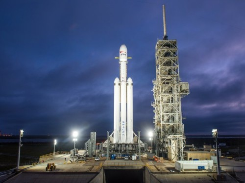 SpaceX's 'monster' Falcon Heavy rocket is set to launch this week — but Elon Musk has said there's a good chance it could blow up