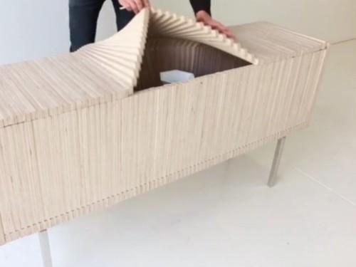 Sebastian Errazuriz wave cabinet design