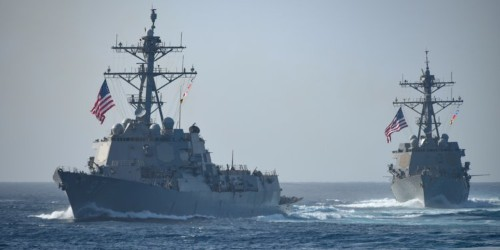 US warships just sailed through the Taiwan Strait again, ignoring China's repeated warnings