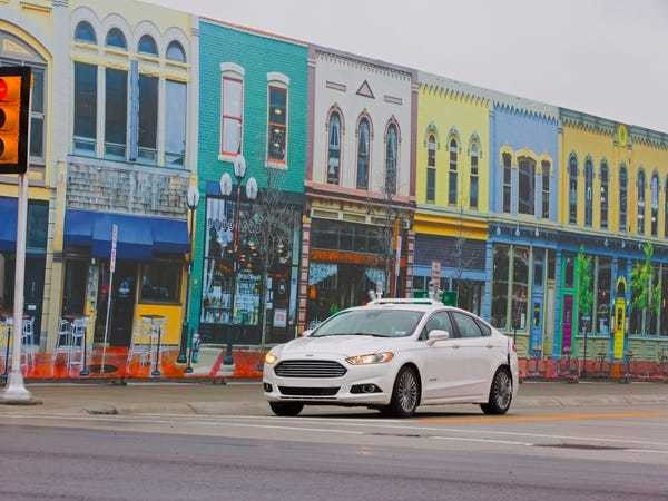 Ford is testing its self-driving cars in a 32-acre fake city - Business Insider