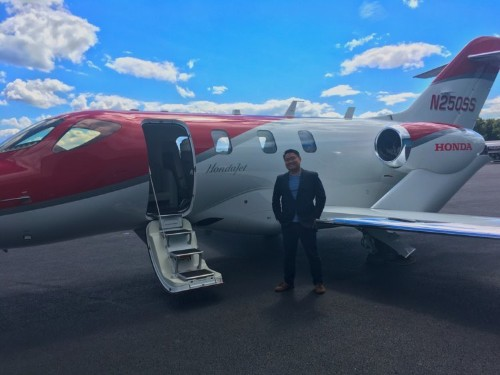 I flew on Honda's $4.9 million private jet, and it's an absolute game-changer