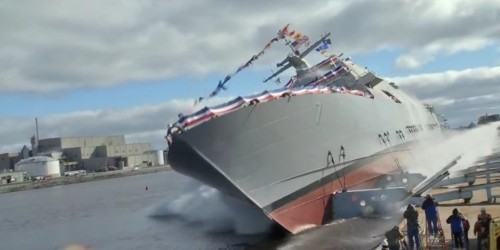 Here's the incredible way some warships are launched into water for the first time