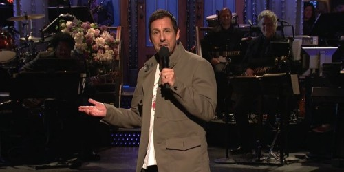 Adam Sandler kicked off his return to Saturday Night Live after 24 years with a song about getting fired