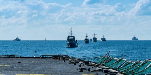 Navy practicing mine countermeasures at BaltOps in Baltic Sea Europe