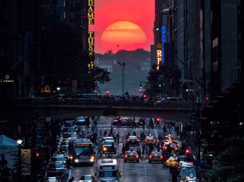 A strange and beautiful sunset is happening in New York City this week — here's how to see it