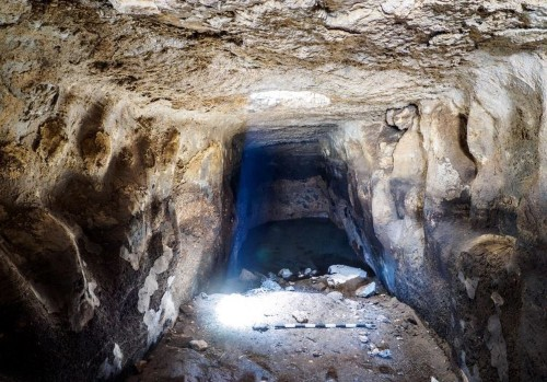 A rare 2,700-year-old water reservoir with ancient engravings was unearthed in Israel