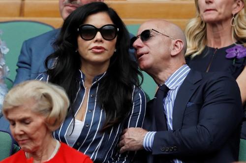 Jeff Bezos and Lauren Sanchez sat behind the Royals at Wimbledon