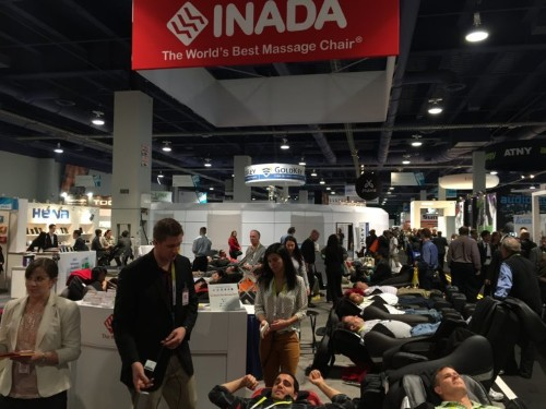 These Creepy Massage Chair Nap Zones Are Everywhere At CES