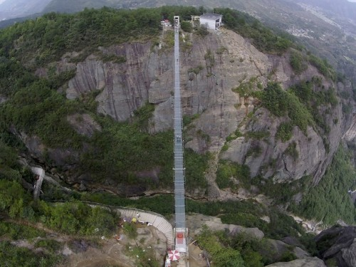 The world's longest glass bottom bridge just opened in China — and it looks terrifying
