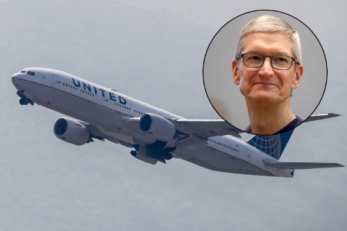 Apple buys 50 business-class seats every day on flights to Shanghai, according to a confidential United sign