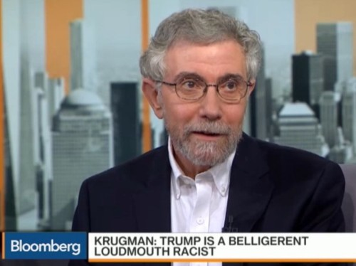 Paul Krugman: Donald Trump is 'a belligerent, loudmouth racist with not an ounce of compassion'