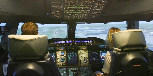 British Airways has a $13 million flight simulator that taught us how to take off, fly, and land an airplane