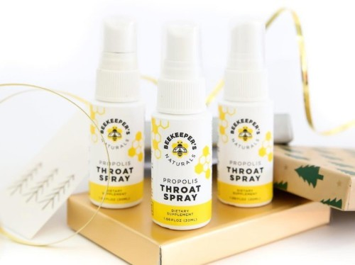 I'm convinced this $13 throat spray with ingredients produced by bees has helped my immune system