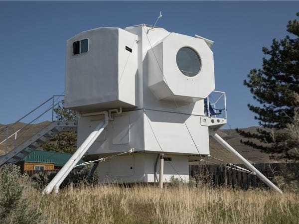 Check out Kurt Hughes' lunar lander tiny home: PHOTOS - Business Insider