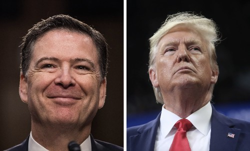 Comey keeps place card from 'loyalty' dinner with Trump in his office - Business Insider
