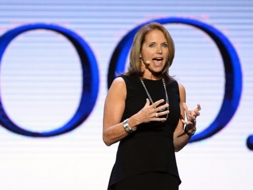 Katie Couric guaranteed 2.5 million views when she asked Hillary Clinton for a Yahoo interview