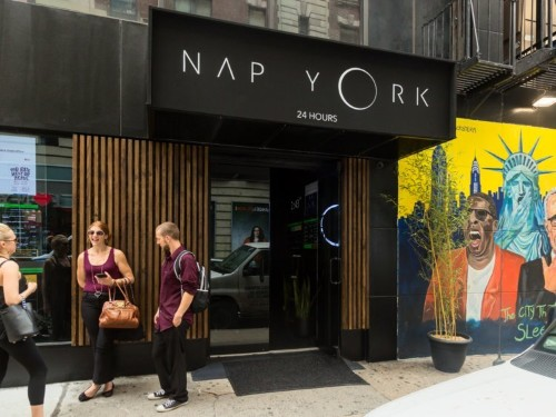 I went inside the NYC napping lounge where people are paying up to $250 a month to nap in dark, private pods at any time of day — here's what they look like