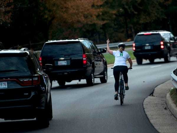 Cyclist who flipped off Trump just won election in Virginia county - Business Insider