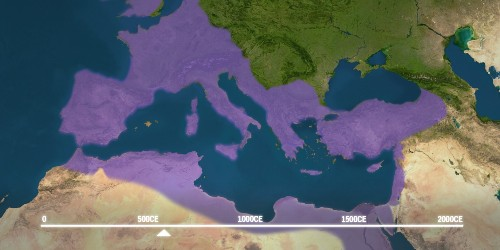 Animated map shows how Christianity spread across the world