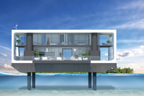 These $2 million floating homes are designed to withstand Category 4 hurricanes