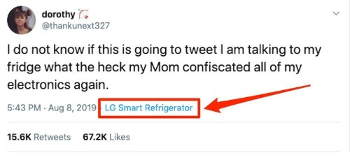 Teen's viral tweet 'from LG Smart Refrigerator' prompts questions