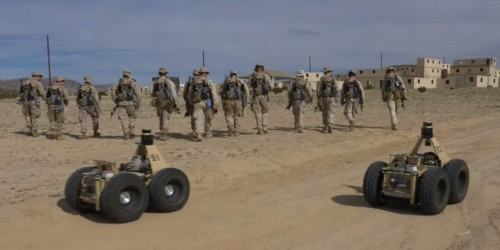 Watch Marines train with 'Squad X' — DARPA's team of autonomous robot battle buddies