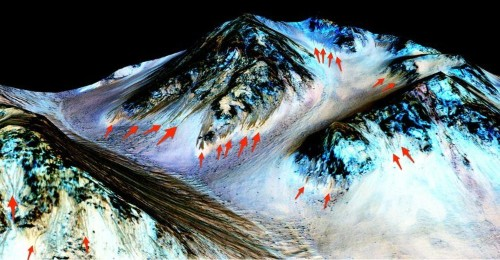 Jaw-dropping images give us a first glimpse of Mars' liquid water