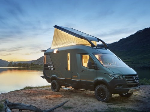 This luxurious tiny home on wheels was made from a Mercedes-Benz Sprinter van