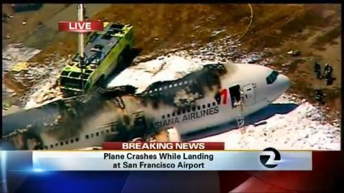 San Francisco Plane Crash Photos: Boeing 777 Asiana Flight 214 Crash Lands At SFO