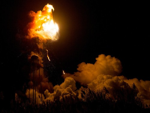 NASA just released close-up photos of the Antares rocket explosion, and they're eerily beautiful
