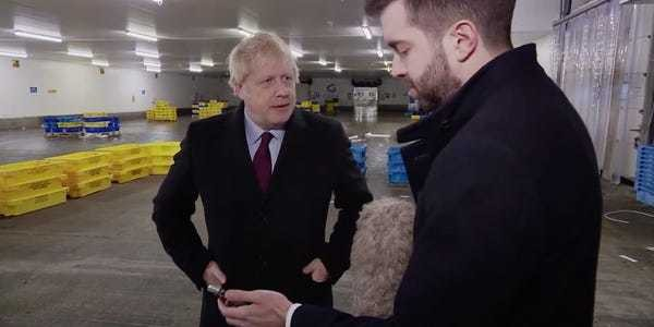 Boris Johnson grabs reporter's phone with photo of sick 4-year-old boy - Business Insider