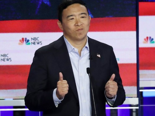 Andrew Yang said he would 'love' to declassify Area 51 if he could