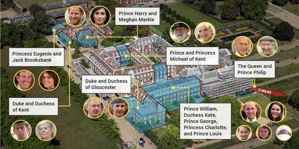 Where royal family members live: Kensington Palace, Buckingham Palace - Business Insider