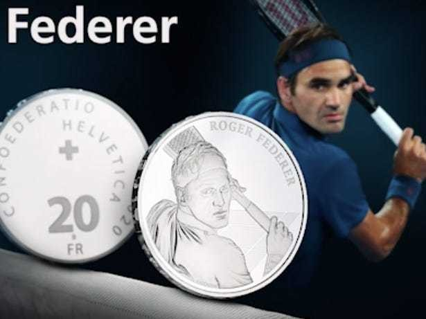 Site selling Roger Federer's coin crashes after 2.5 million clicks - Business Insider