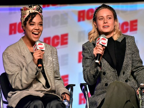Brie Larson and Tessa Thompson ship Captain Marvel and Valkyrie - Business Insider