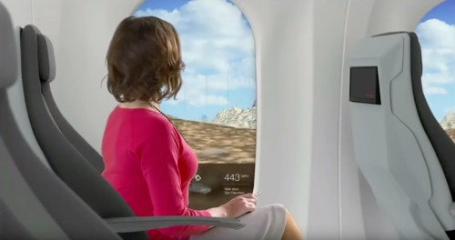 This is what the inside of Hyperloop pods could look like