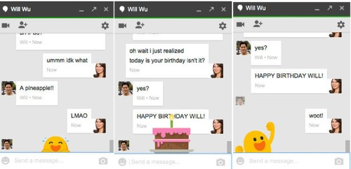 How to uncover a bunch of fun Easter eggs hidden in Google Hangouts