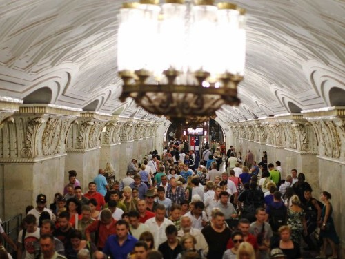 Moscow's Stunning Metro System Feels Like A Trip Back In Time