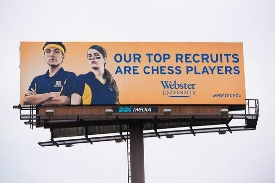 This Billboard Promotes A College Chess Team Better Than Most Schools Tout Their Football Teams