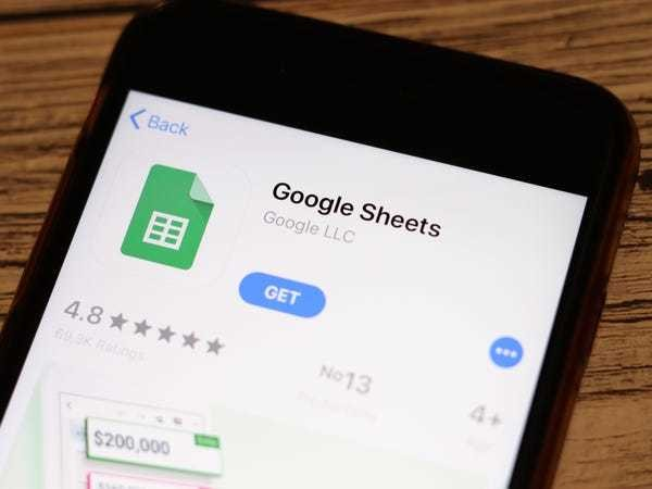 How to hide rows in Google Sheets on on a computer or mobile device - Business Insider