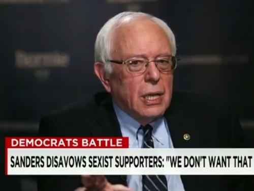 Bernie Sanders addresses 'Bernie bro' phenomenon: 'We don't want that crap'