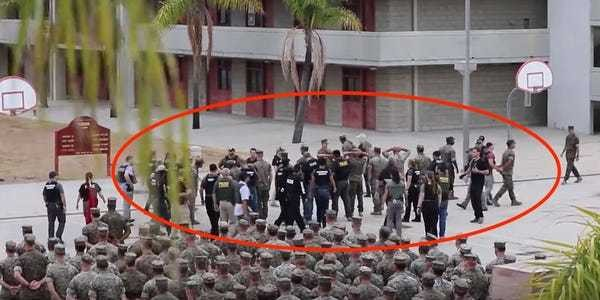 Video shows 15 US Marines being arrested during formation in San Diego - Business Insider